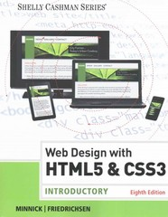 Web Design with HTML & CSS3 8th Edition 9781305585768 1305585763