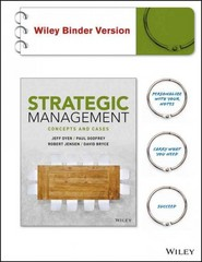 Strategic Management 1st Edition 9781119223740 1119223741