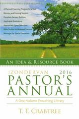 The Zondervan 2016 Pastor's Annual 1st Edition 9780310493976 0310493978