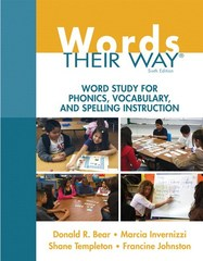 Words Their Way 6th Edition 9780133996333 0133996336