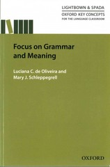 Focus on Grammar and Meaning 1st Edition 9780194000857 0194000850