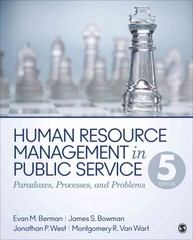 Human Resource Management in Public Service 5th Edition 9781483340036 1483340031