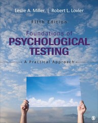 Foundations of Psychological Testing 5th Edition 9781483369259 1483369250
