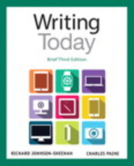 Writing Today, Brief Edition 3rd Edition 9780321984746 0321984749