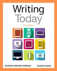 Writing Today 3rd Edition 9780321984654 032198465X