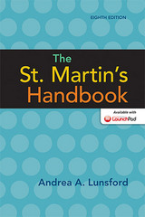 The St. Martin's Handbook 8th Edition 9781457694837 1457694832