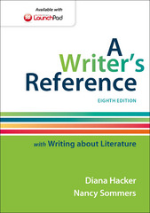A Writer's Reference with Writing about Literature 8th Edition 9781457698101 1457698102
