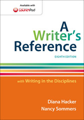 A Writer's Reference with Writing in the Disciplines 8th Edition 9781457698033 145769803X