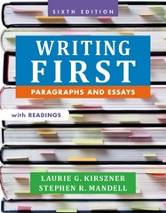 Writing First with Readings 6th Edition 9781457667831 1457667835