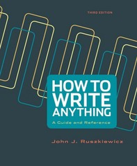 How to Write Anything 3rd Edition 9781457693670 1457693674