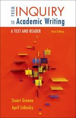 From Inquiry to Academic Writing 3rd Edition 9781457653445 1457653443