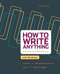 How to Write Anything with Readings 3rd Edition 9781457667039 1457667037