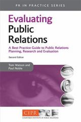 Evaluating Public Relations 2nd edition 9780749449797 0749449799