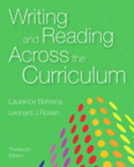 Writing and Reading Across the Curriculum 13th Edition 9780133999648 0133999645
