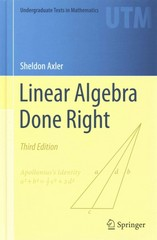 Linear Algebra Done Right 3rd Edition 9783319110790 3319110799