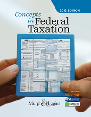 Concepts in Federal Taxation 2016 23th Edition 9781305560383 1305560388