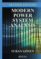 Modern Power System Analysis, Second Edition 2nd Edition 9781466570825 1466570822