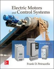 Electric Motors and Control Systems 2nd Edition 9780073373812 0073373818