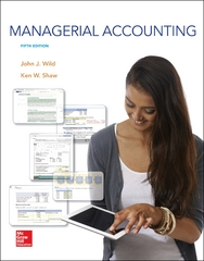 Managerial Accounting 5th Edition 9781259176494 1259176495