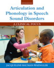 Articulation and Phonology in Speech Sound Disorders 5th Edition 9780133810370 0133810372