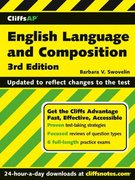 CliffsAP English Language and Composition 3rd edition 9780471933687 0471933686