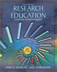 Research in Education 6th edition 9780205455300 0205455301