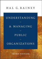 Understanding and Managing Public Organizations 3rd Edition 9780787965617 0787965618