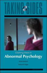Taking Sides: Clashing Views in Abnormal Psychology 5th edition 9780073515267 0073515264