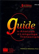 Guide to Analysis of Language Transcripts (3rd Edition) 3rd Edition 9781586506995 1586506994