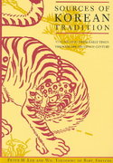 Sources of Korean Tradition 1st Edition 9780231105675 0231105673