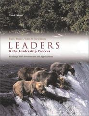 Leaders and the Leadership Process 3rd edition 9780072482560 0072482567