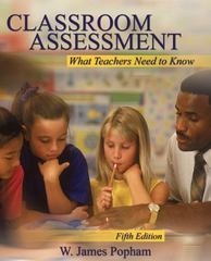 Classroom Assessment 5th Edition 9780205510757 0205510752