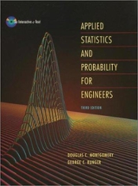 Applied Statistics and Probability for Engineers 3rd edition 9780471204541 0471204544