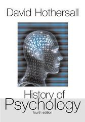 History of Psychology 4th edition 9780072849653 0072849657