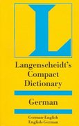 Compact German Dictionary 1st Edition 9781585733514 1585733512