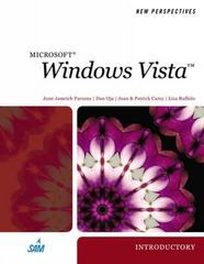 New Perspectives on Windows Vista, Introductory 1st edition 9781423906018 1423906012
