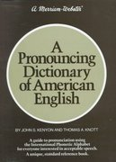 A Pronouncing Dictionary of American English 2nd Edition 9780877790471 0877790477