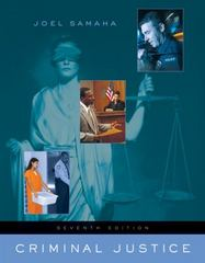 Criminal Justice (with InfoTrac) 7th Edition 9780534645571 0534645577