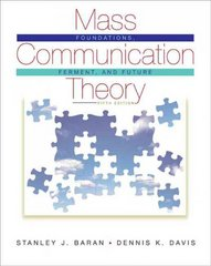 Mass Communication Theory 5th Edition 9780495503637 0495503630