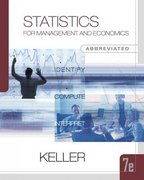 Statistics for Management and Economics, Abbreviated Edition (with CD-ROM and InfoTrac) 7th edition 9780324376333 0324376332