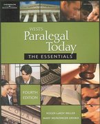 Paralegal Today: The Essentials, 4E 4th edition 9781418050320 1418050326