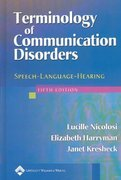 Terminology of Communication Disorders 5th Edition 9780781741965 0781741963