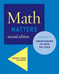 Math Matters 2nd Edition 9780941355711 0941355713