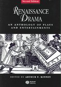 Renaissance Drama 2nd edition 9781405119672 1405119675