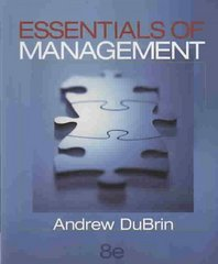 Essentials of Management 8th Edition 9780324353891 0324353898