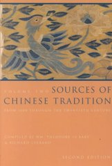 Sources of Chinese Tradition 2nd edition 9780231112710 0231112718