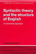 Syntactic Theory and the Structure of English 1st Edition 9780521477079 0521477077