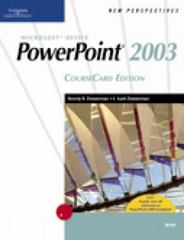 New Perspectives on Microsoft Office PowerPoint 2003, Brief, CourseCard Edition 1st edition 9781418839123 1418839124