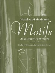Workbook/Lab Manual for Motifs: An Introduction to French, 4th 4th edition 9781413030433 1413030432