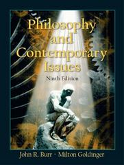 Philosophy and Contemporary Issues 9th edition 9780131112568 0131112562